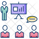 Sprint Review Meeting Presentation Discussion Icon