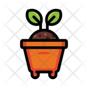 Plant Pot Sprout Icon