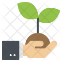 Hand Sprout Plant Icon