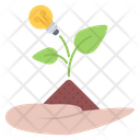 Sprout Hand Leaf Icon
