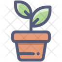 Sprout Plant Pot Icon