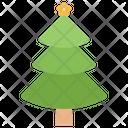 Spruce Tree Greenery Decorated Tree Icon