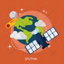 Sputnik Space Universe Icon