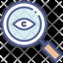 Eye Magnifying Detective Icon