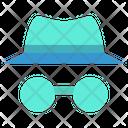 Spy Detactive Spy Hat Icon