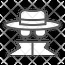 Spy Agent Anonymity Icon