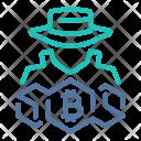 Bitcoin Anonymous Hacker Icon