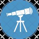 Spy Telescope Astronomy Planetarium Icon