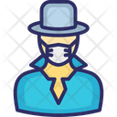 Detective Spy Secret Agent Icon
