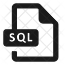 File Format Sql Icon