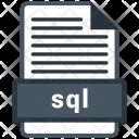 Sql File Formats Icon