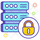 Sql Server Lock Dataserver Network Sql Lock Icon
