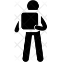 Square Hoding Man Icon