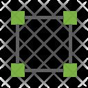 Square Four Nodes Icon
