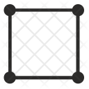 Square Border Curves Icon
