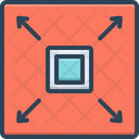 Square Frame Linear Icon