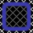 Square Shape Round Icon