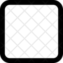 Square Round Corner Shape Icon