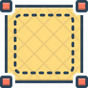 Square Frame Geometry Icon