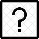 Square Question Shape Icon