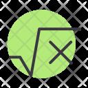 Square Root Math Icon
