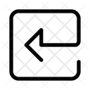 Square Arrow Left Navigation Ui Icon