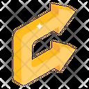 Square Curve Arrows Icon