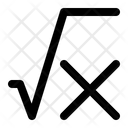 Square Root Square X Math Icon