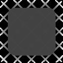 Square with round corner Icon