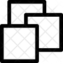 Squares Overlay Shape Icon