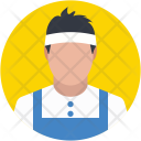 Squash Player Sport Icon