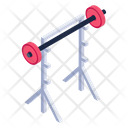 Free Weights Fitness Equipment Barbell Bar Icon