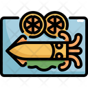Squid Seafood Food Icon