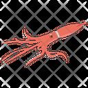 Squid Fish Sealife Icon