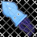 Squid Calamari Sea Creature Icon