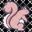 Garden Squirrel Animal Icon