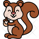 Squirrel Animal Cute Icon
