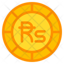 Sri Lankan Rupee Coin Currency Icon