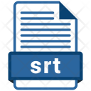 Srt File Format Icon