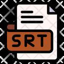 Srt File Type File Format Icon