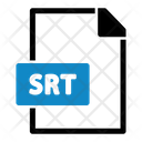 Srt File Type Paper Icon