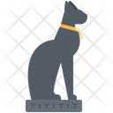 Statue Cat Hieroglyph Icon