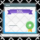 Ssl Certificate Online Certification Web Achievement Icon