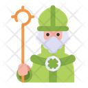 St Patrick Priest Christianity Icon
