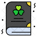 St Patrick Book Book Clover Icon