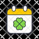 St Patrick Day Calendar Patrick Icon