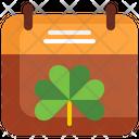 Calendar St Patrick Day Marchd Icon