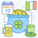 St Patrick Day Feast Saint Patrick Religious Celebration Icon