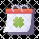 St Patrick Day Calendar Irish Icon