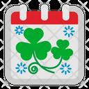 St Patricks Day Calendar Icon